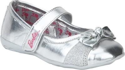 Barbie Girls Velcro Ballerinas(Silver) at flipkart
