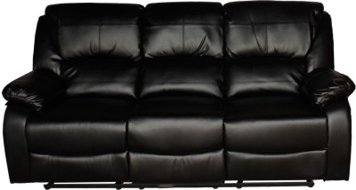 Woodness Joey Leatherette Manual Recliners(Finish Color - Black)