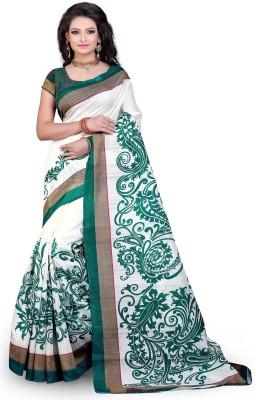 Saran Printed Fashion Cotton Blend Saree Multicolor Saran Women's Sarees