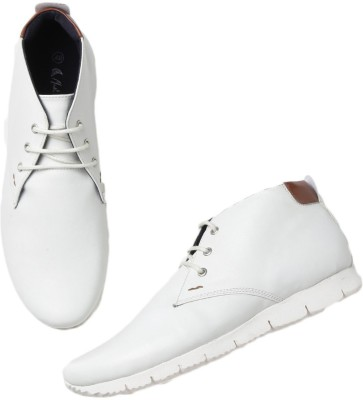 Mast & Harbour Boots(White) at flipkart