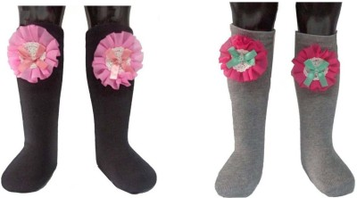 Portia Baby Girls Mid-calf Length Socks(Pack of 2)