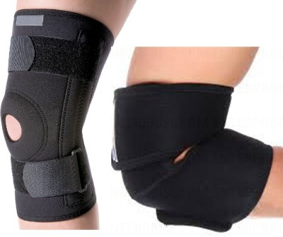307d385cae FITNESS SOLUTIONS Elbow Warp and Knee Support Compression Muscle Joint  Protection for gym exercise. Knee