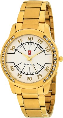 Swiss Trend ST2251 Golden Latest Trend Analog Watch For Women