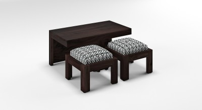 Urban Ladder Kivaha 2-Seater Coffee Table Set Solid Wood Coffee Table(Finish Color - Black and White)
