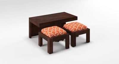 Urban Ladder Kivaha 2-Seater Coffee Table Set Solid Wood Coffee Table(Finish Color - Morocco Lattice Rust)