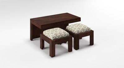 Urban Ladder Kivaha 2-Seater Coffee Table Set Solid Wood Coffee Table(Finish Color - Morocco Lattice Beige)