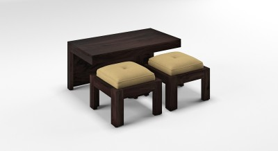 Urban Ladder Kivaha 2-Seater Coffee Table Set Solid Wood Coffee Table(Finish Color - Beige)
