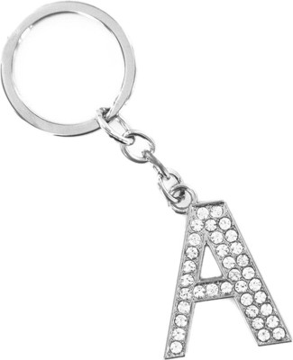 GELILIA A Alphabet Crsystal Studded Gift Key Chain at flipkart
