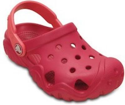 Crocs Boys & Girls Sling Back Clogs(Pink) at flipkart