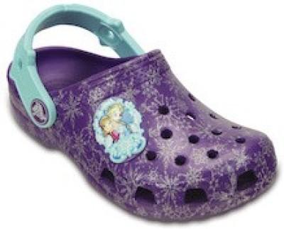 Crocs Boys & Girls Sling Back Clogs(Purple) at flipkart