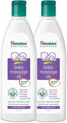 Himalaya Baby Massage Oil, 200 ML (pack of 2)