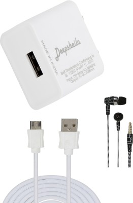 DEEPSHEILA Wall Charger Accessory Combo for HONOR 8 LITE(White)