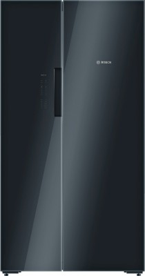 Bosch 655 L Frost Free Side by Side Refrigerator(Glass Black, KAN92LB35I)