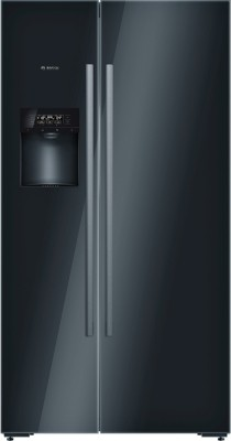 Bosch 638 L Frost Free Side by Side Refrigerator(Glass Black, KAD92SB30)