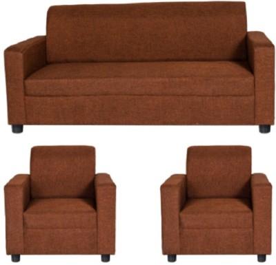 GIOTEAK Fabric 3 + 1 + 1 Maroon Sofa Set