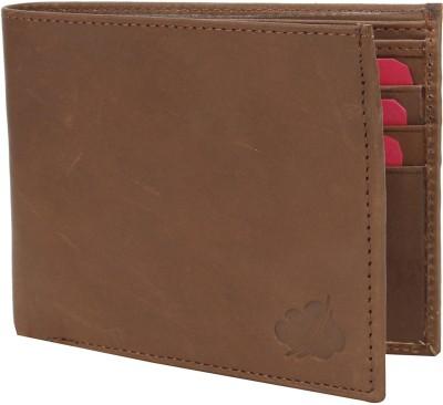 Drizzle Men Brown Genuine Leather Wallet 6 Card Slots