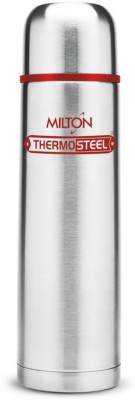 Milton Vaccum Flasks Thermosteel 1000 ml Flask Pack of 1, Silver, Steel
