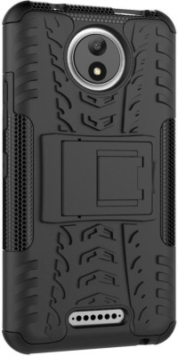 Shobicomz Back Cover for Motorola Moto C Plus(Alto Black, Plastic)