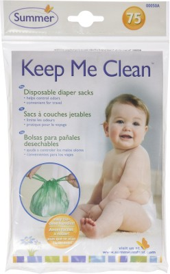 Summer Infant Keep Me Clean Disposable Diaper Sacks (75pk) Diaper Disposal Bin(1 Diaper)
