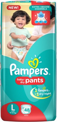 Pampers New Large Size Diapers Pants - 48 Count