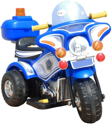 Toyhouse 6v Police Rechargeable Bike Battery Operated Ride On(Blue)