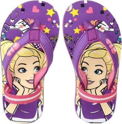 Barbie Girls Slip On Slipper Flip Flop(Purple) at flipkart