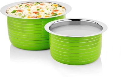 Cookaid Elite Heavy Induction Friendly Patila Set 2 Pcs Pot 1 L(Stainless Steel, Induction Bottom) at flipkart