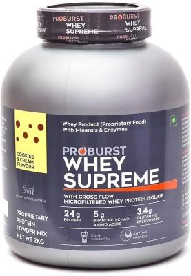 Proburst Whey Supreme Whey Protein(2 kg, Cookies & Cream)