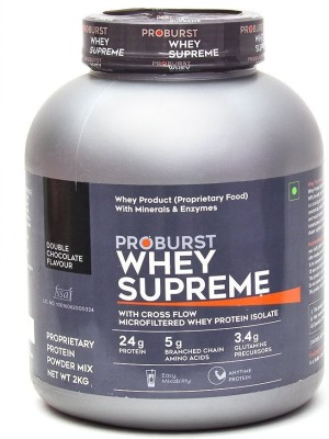 Proburst Whey Supreme Whey Protein(2 kg, Double Chocolate)