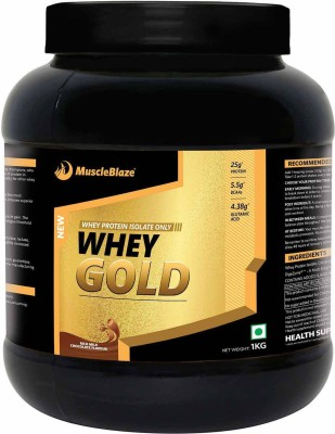 MuscleBlaze Whey Gold Protein (2.2 lb), 1 kg Rich Milk Chocolate