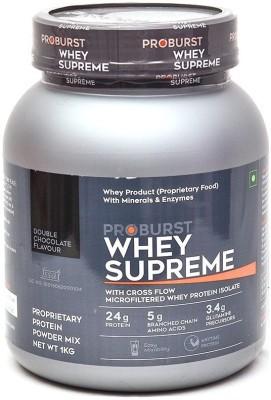 Proburst Whey Supreme Whey Protein(1 kg, Double Chocolate)