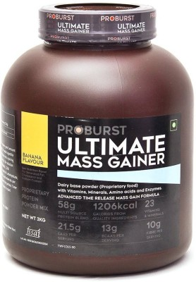 Proburst Ultimate Mass Gainer Mass Gainers(3 kg, Banana)