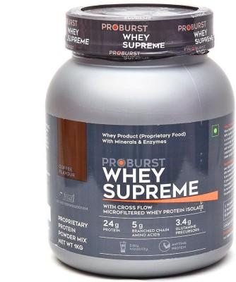 Proburst Whey Supreme Whey Protein(1 kg, Coffee)