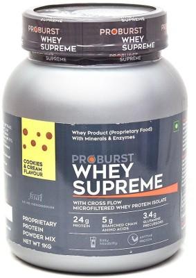 Proburst Whey Supreme Whey Protein(1 kg, Cookies & Cream)