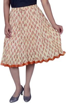 Pezzava Printed Women Straight Multicolor Skirt