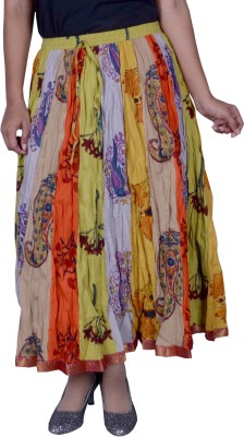 N2CREATIONS Printed Women Straight Multicolor Skirt