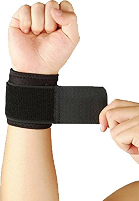 R-Lon Cotton Gym & Athletic Wrist Support (Free Size, Black)  available at flipkart for Rs.111