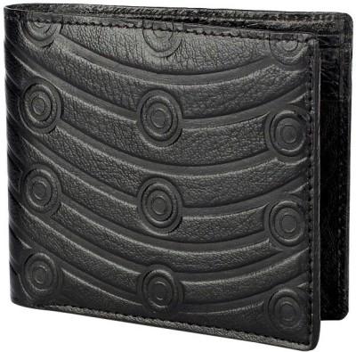Viaan Men Black Genuine Leather Wallet(3 Card Slots)