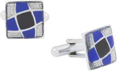 The Jewel Box Brass Cufflink(Blue)
