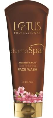 Lotus Herbals Dermo Spa Japanese Sakura Skin Whitening Face Wash(80 g)