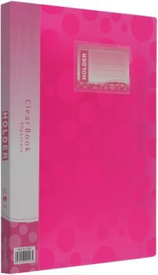 TRANBO Plastic Clear File Folder Display Presentation Book, 60 Pocket, A4 Size(Set Of 1, Pink)  available at flipkart for Rs.319