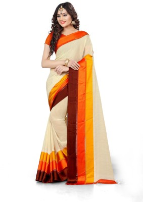 AJS Printed Fashion Synthetic Georgette Saree(Multicolor)
