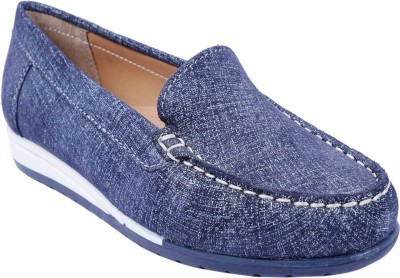 SWANSIND Mocassin For Women(Blue) at flipkart