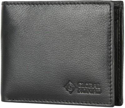 Global Nomad Men Black Genuine Leather Wallet(3 Card Slots) at flipkart