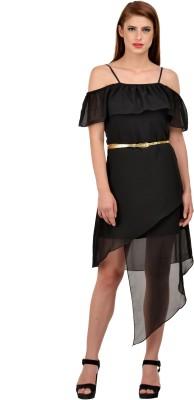 KARMIC VISION Women Layered Black Dress