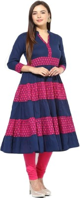 The Style Story Women Printed Anarkali Kurta(Multicolor)