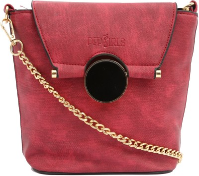 097aa538fe1 70% OFF on Pepgirls Girls Evening Party Red Leatherette Sling Bag on  Flipkart