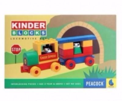Peacock Kinder Block   Locomotive Set Multicolor Peacock Blocks   Building Sets