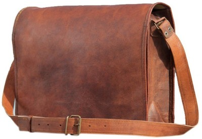 mangalmurti 15 inch Laptop Messenger Bag Brown