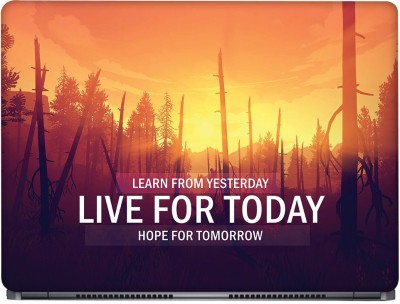 CRAZYINK Live For Today Vinyl Laptop Decal 15.6